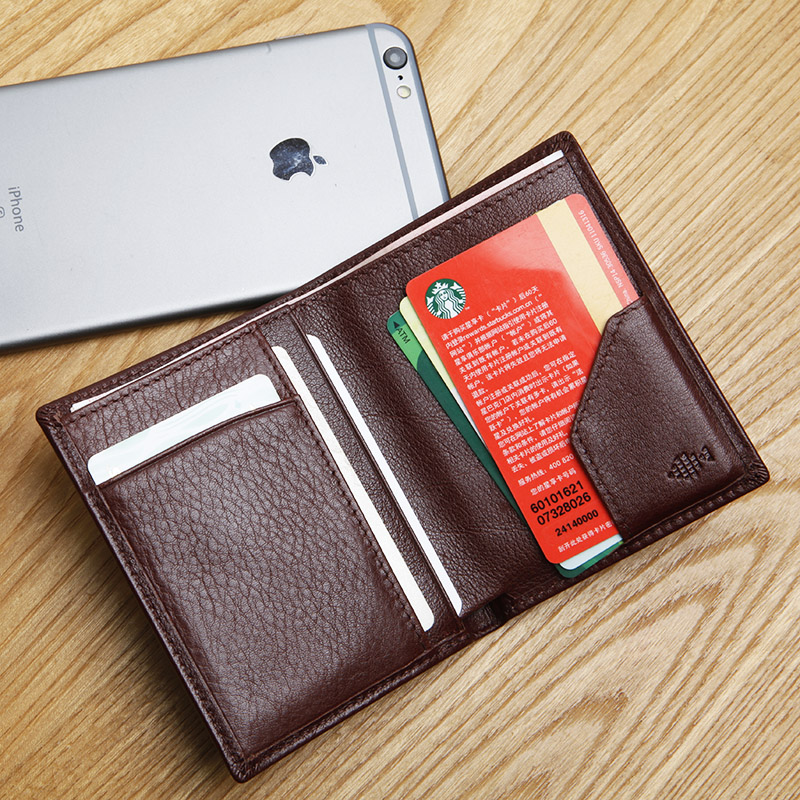 LANSPACE läder mäns plånbok handgjorda handväskor designer myntpåsar hållare