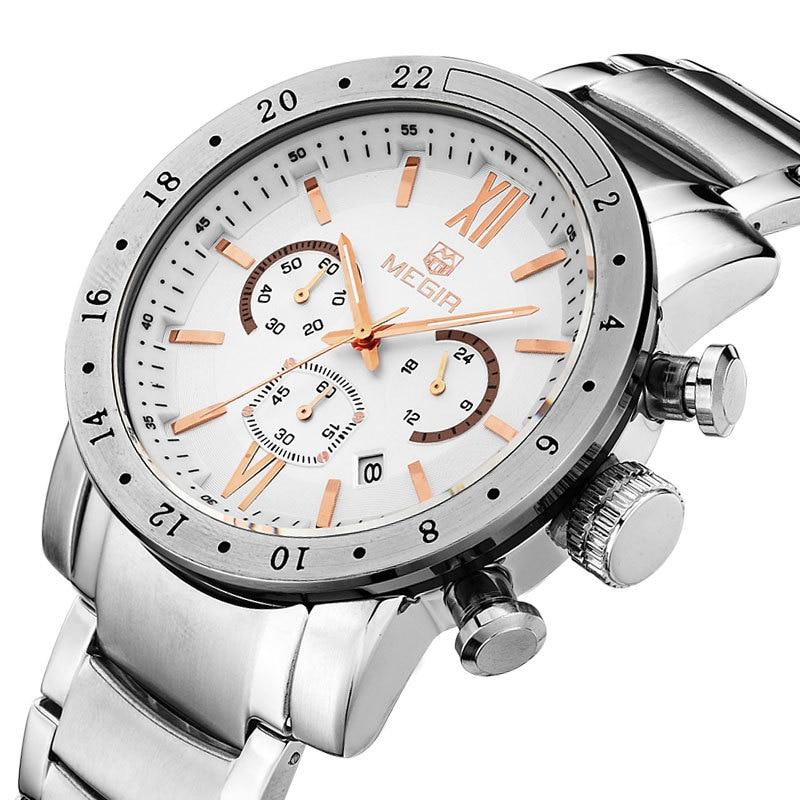 MEGIR roestvrij staal lichtgevende herenhorloges Top luxe merk - Herenhorloges - Foto 2