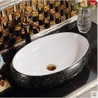 On The Ceramic Basin Oval Sink Sink Art Basin American Europe Type Restoring Ancient Ways Toilet Basin
