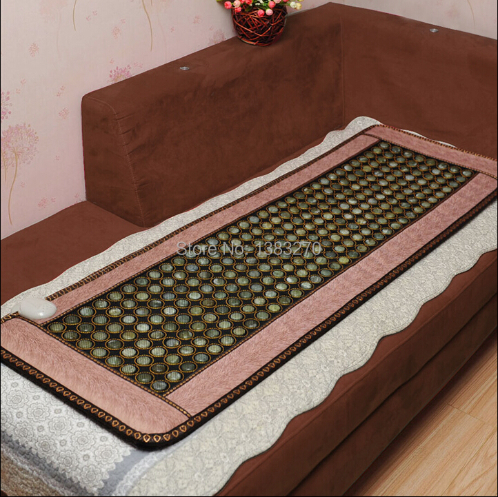 2017 Health Care Korea jade mattress heating Tourmaline health magnetic heated sleeping mattress with eye cover 50*150CM health care product for 2017 korea heated mattress heat mat with stones jade heating jade mattresswith free gift eye cover