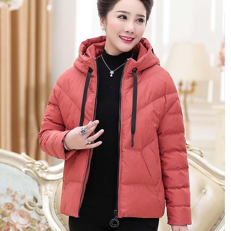 D'âge 2018 corail Coton Moyen Femmes Épaisse Chaud Noir De P2018cy810 Nouvelles Rouge Veste rouge orange qqTaE