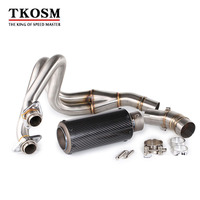 TKOSM Motorcycle For Kawasaki ER6N ER6F NINJA650R 2012 2016 Full Exhaust System Connect Link Header Pipe