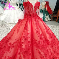 AIJINGYU Bridal Wear Gowns White Sexy Dubai New 2018 2019 Open Back Long Sleeves Newest Vintage Gown Wedding Reception Dress