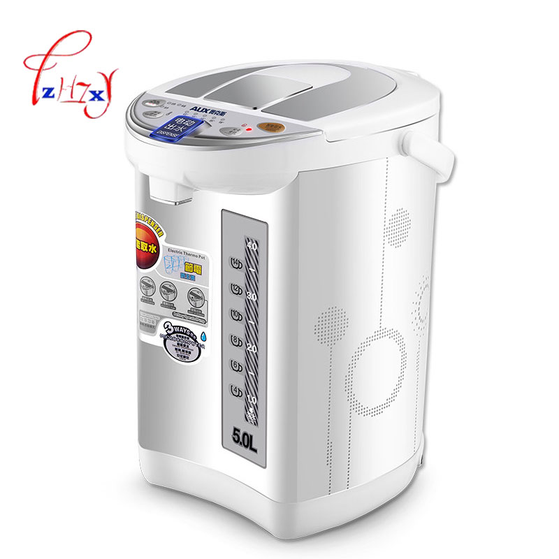 Household Electric Water Kettle electric kettle 5L quick heating water bottle 220V boiler heater HX-8039 electic bottle 1pc high quality electric kettle double wall insulation quick heating digital electric thermos water boiler home appliances for tea