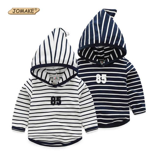 Nuevos niños de la raya de manga larga sudadera con capucha para niños y niñas de 2017 niños del resorte casual clothing baby girl/boy ropa