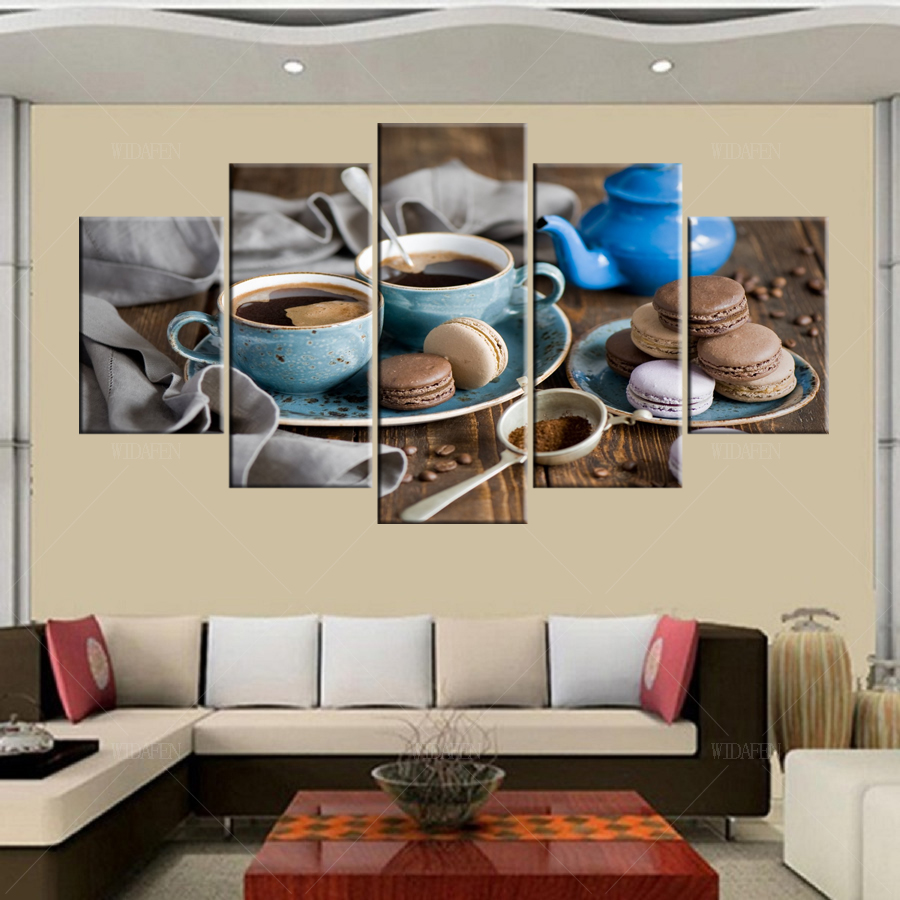 5 Piece Barcelona Messi Canvas Printed Painting For Living Picture  -> Arte Parede Sala