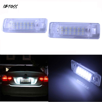 2x High Power Error Free 18 SMD 3528 SMD LED License Plate Light Lamp For Mercedes