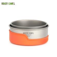Rover Came Outdoor Titanium Bowl Camping Bowl Pan Pot Tableware Cookware 400ml-450ml titanium cookware 2 piece pot and bowl set