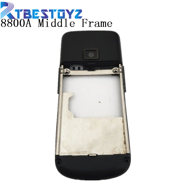RTBESTOYZ Black Housing Black Middle Frame Replacement Black Middle Frame For Nokia 8800 Arte 8800A