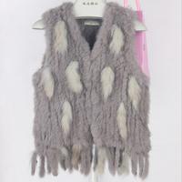 Factory Direct Autumn And Winter Warm Real Rabbit Fur Vest Women S Europe Style Fur Coat