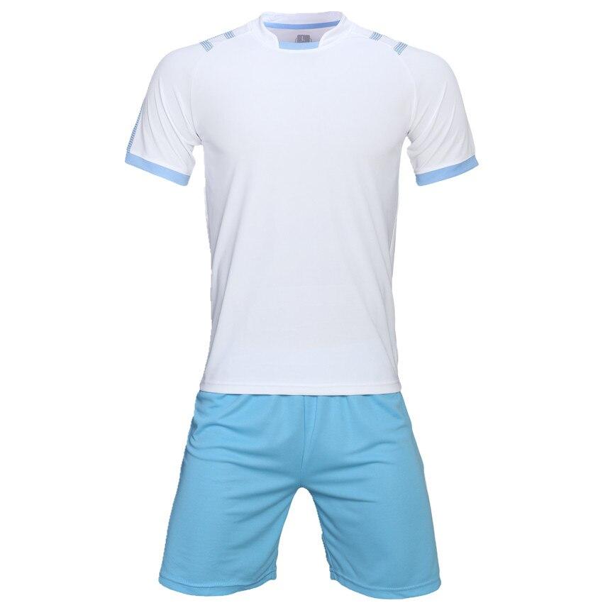 Men Soccer sets blank football jerseys 2018 adult sport kit training suits  soccer jerseys shorts shirts uniforms team DIY custom-in Soccer Sets from  Sports ... b121c2c3de3b
