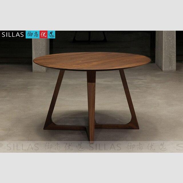 trader noyer tables en bois de meubles 1 2 metros table ronde bureau de design minimaliste