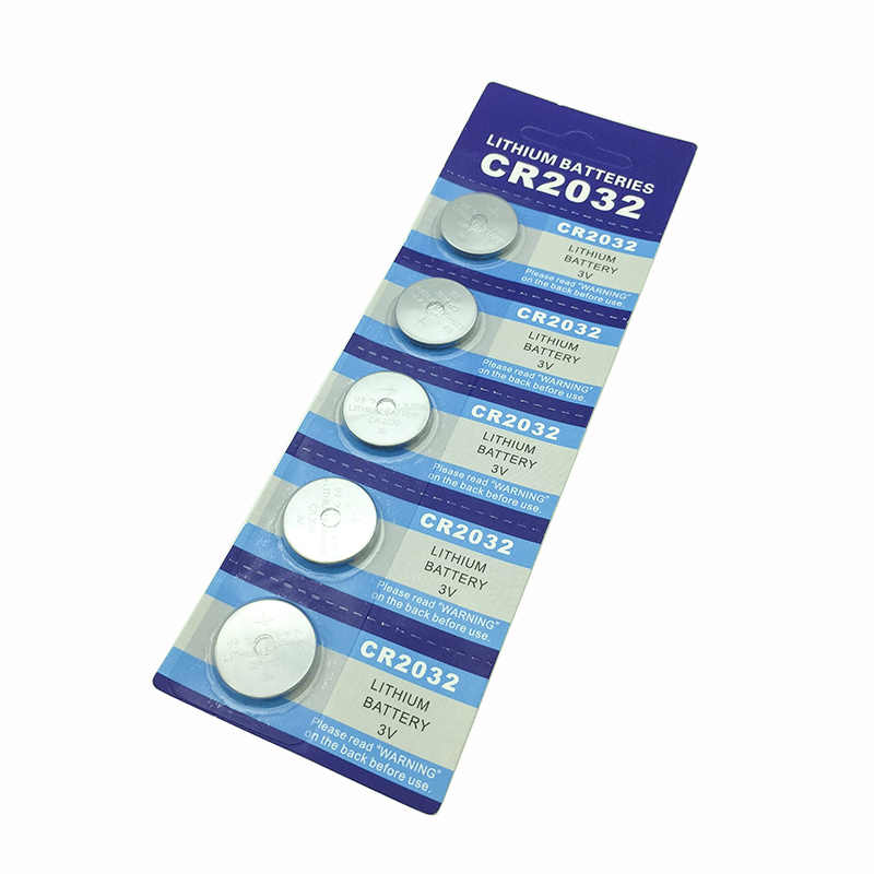 5pcs/Lot 1card CR2032 3V button Cell Coin Button Battery lithium Li-ion DL2032 ECR2032 batteria Watches clocks toy calculators