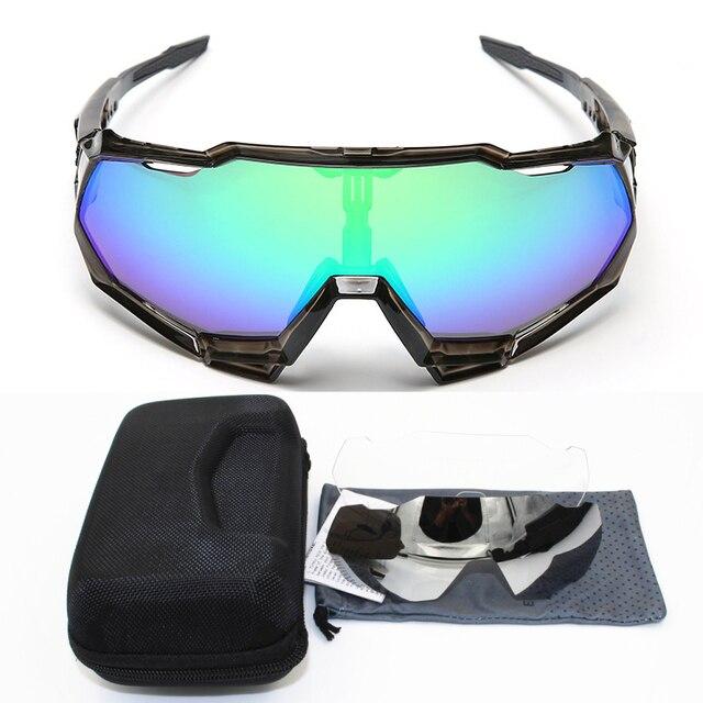 ca1897cd64e 100 speedtrap 2018 Brand Base Sports Bicycle Sunglasses Gafas ciclismo  Cycling Glasses MTB Eyewear 3 lens
