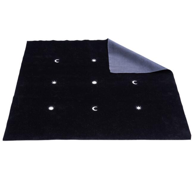 2019 New Tarot Tablecloth  Velvet Large Size Board Game Accessories Thickened Stars Moon Embroidery Tablecloth 50*50 Cm