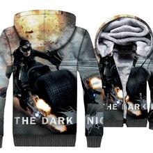 Superhero Men Clothing 2019 3D Winter Thick Coat For Hip Hop Zipper Unisex Sweatshirts Harajuku Mens Hoodies Anime Jackets