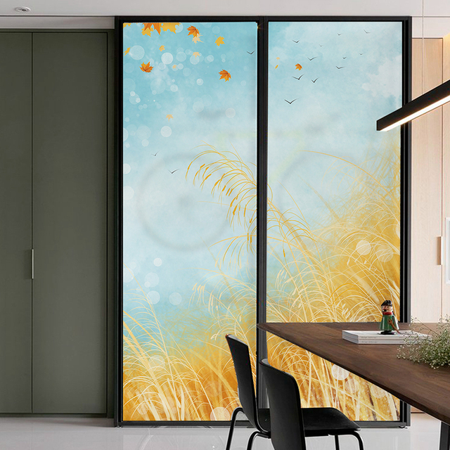 Rice Drifting Window Paper Glass Film Sliding Doors Glass Door Stickers  Bedroom Decoration Window Stickers Transparent