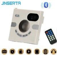 JINSERTA 86 Type Wall Bluetooth Speaker Wireless Stereo Sound MP3 Player Support FM Radio AUX Audio TF Card USB Remote Control
