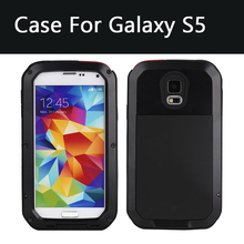 Luxury Weather/Dirt/Shock Proof phone case For Samsung Galaxy S5 i9600 case Metal Alloy Gorilla Glass new