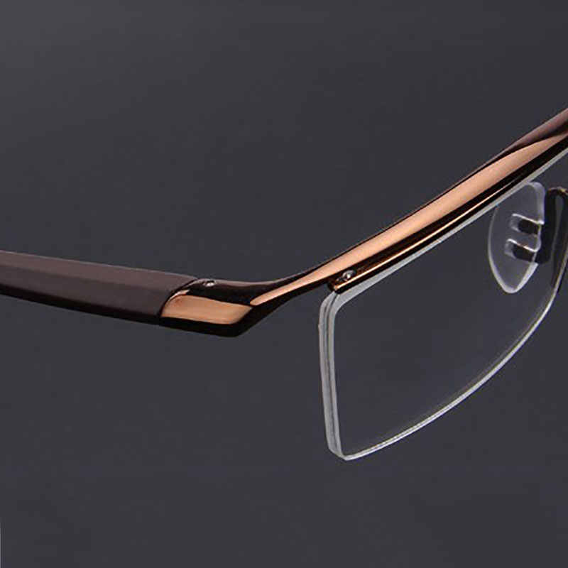 f1d0c05ea7 ... Browline Half Rim Alloy Metal Glasses Frame for Men Eyeglasses Fashion  Cool Optical Eyewear Man Spectacles ...