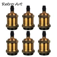 E26/E27 винтовая лампочка эдисона Ретро подвеска держатель лампы