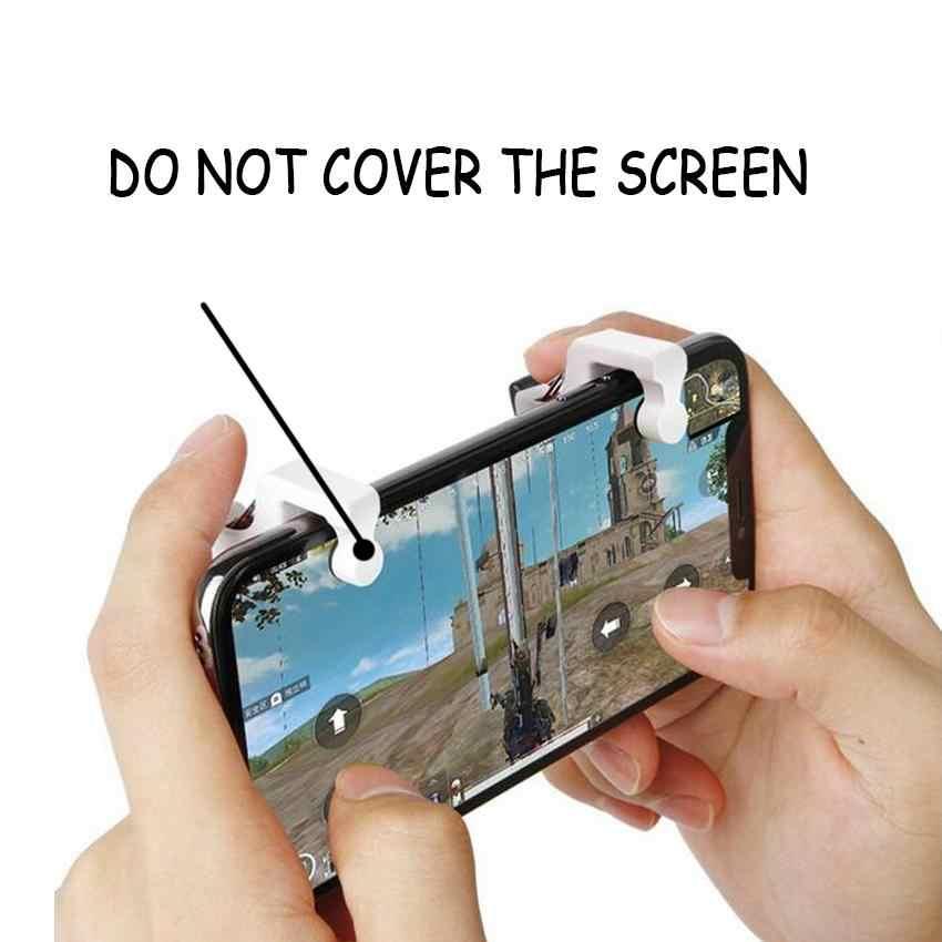 2 sztuk Pubg mobilny kontroler L1R1 Shooter wyzwalania przycisk ognia PUBG gra gamepad dla inteligentnego telefonu z funkcją stojaka