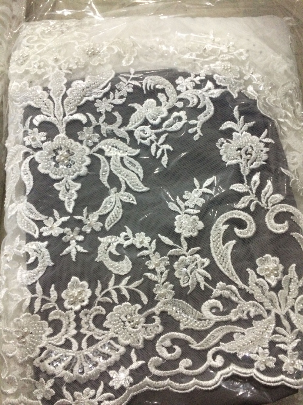 LJY 62029 African French Lace Fabric High Quality African Embroidered Tulle Lace Fabric For Wedding