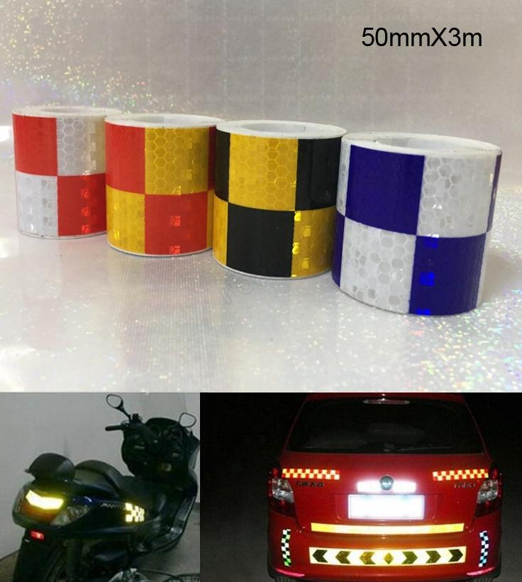 5cm X 3m Shining Reflective Warning Tape for Car