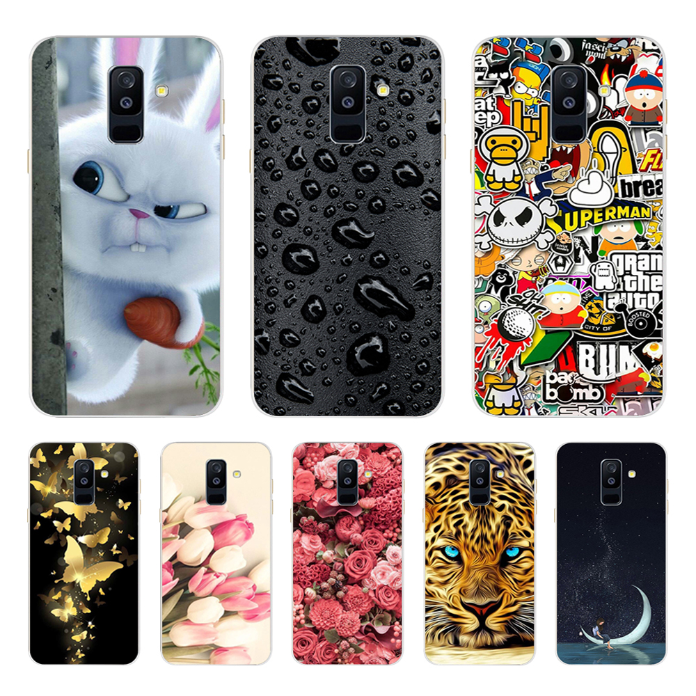 Silicone Case FOR Samsung Galaxy A6 2018 Case Cover SM A600 A600F Soft TPU sFOR Samsung A6 Plus 2018 Case A605 A605F