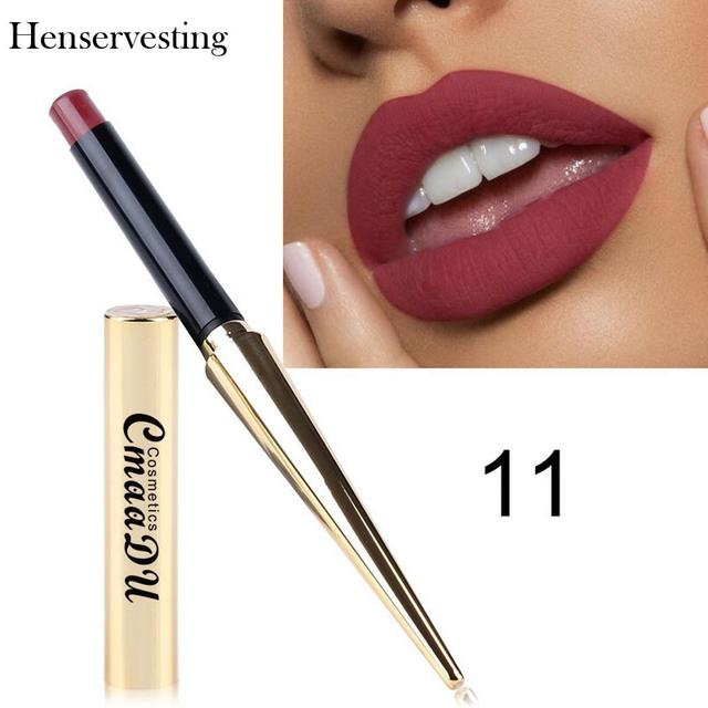 8 colors Matte Lipstick Sexy Nonstick Cup Long Lasting Waterproof Makeup Lipstick Silky Texture Durable Make Up Beauty Cosmetic
