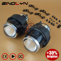 SINOLYN HID Bi Xenon Fog Lights Projector Lens Driving Lamps Retrofit DIY For Nissan Tiida Qashqai