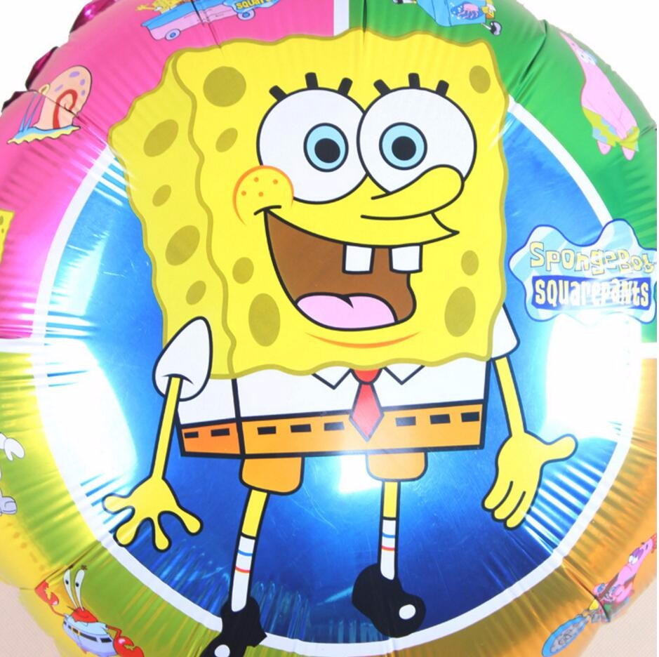 Cute Birthday ballons spongebob party decoration supplies inflatable ...