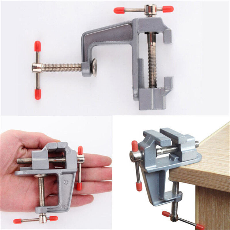 1 PC New 3.5 Inch Aluminum Small Jewelers Hobby Clamp On Table Bench Vise Mini Tool Vice P0.05