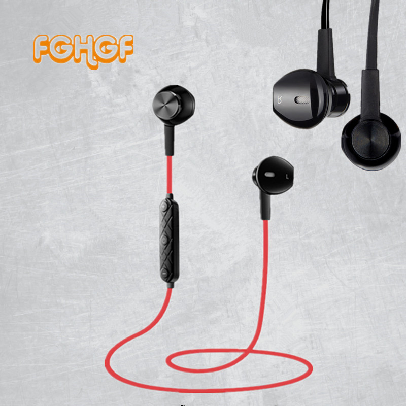 FGHGF i8 Bluetooth Earphone Wireless Metal Headset Noise Reduction Bass Earbuds With Mic for iPhone se 7 8 headphones for girls