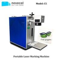 Novecel C5 20W Protable Fiber Laser Marking Machine for Separate Back Cover Glass Laser Metal Engraving