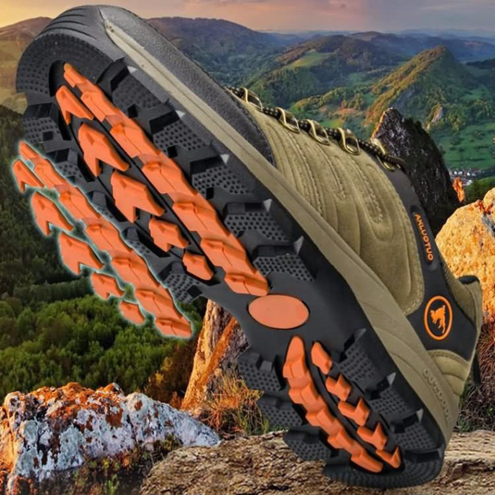 Outdoor Lace-up Hiking Boots Sport Men's Shoes For Camping Climbing Mountain Anti-slip Breathable Shoes sale outdoor sport boots hiking shoes for men brand mens the walking boot climbing botas breathable lace up medium b m