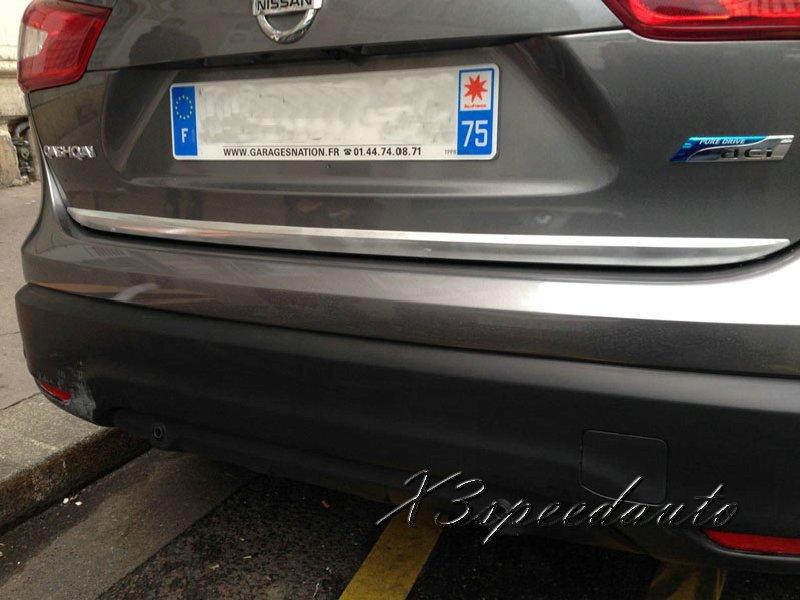 Voiture-style pour Nissan Qashqai 2015 hayon arrière coffre hayon couvercle inférieur garniture chromé de haute qualité