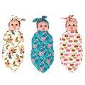 1 Conjunto Bebê Bow Knot Headband & Cobertor Swaddle bebê Recém-nascido Definir Arroto Pano infantil Define Meninos Meninas Coelho Faixas de Cabelo Adereços Fotografia