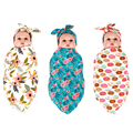 1 Set Baby Bow Knot Headband & Swaddle Blanket Set Newborn Infant Burp Cloth Sets Boys Girls Rabbit Hair Bands Photograph Props
