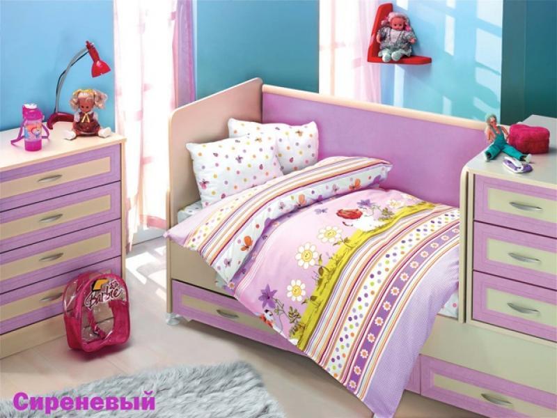 Bedding Set for baby ALTINBASAK, GULUCUK, lilac bedding set for baby altinbasak puffy cream