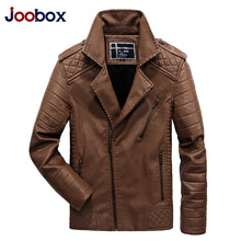 JOOBOX Brand 2017 New Fashion Motorcycle Leather Jackets Men Autumn Winter PU Clothing Male Casual Coat Plus Size 3XL 4XL 5XL