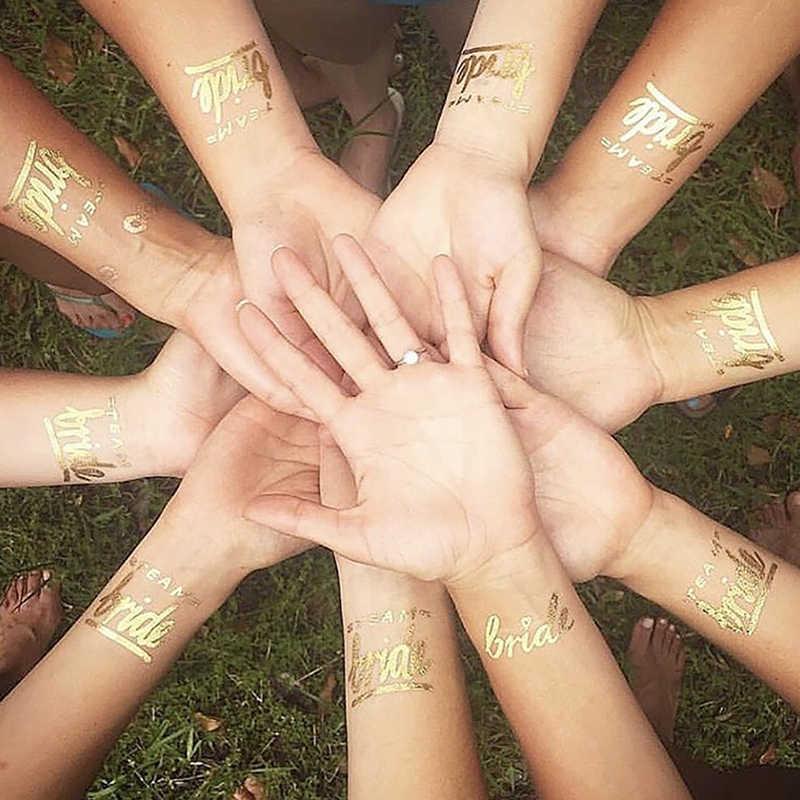 10 штук в партии Свадебная вечеринка украшения для девичника девичник/надпись «Bride Tribe» Временные татуировки Стикеры подарки на девичник невесты