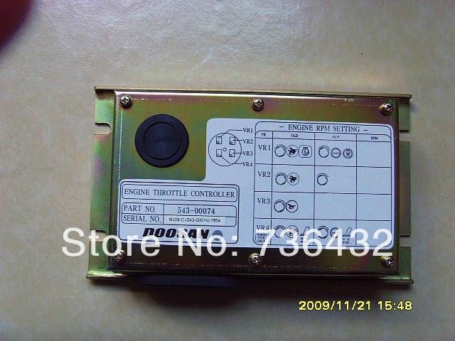 Livraison gratuite rapide! Daewoo 220-5 carte pilote d'accélérateur--Doosan contrôleur d'excavatrice 543-00074-carte pc de machine à creuser