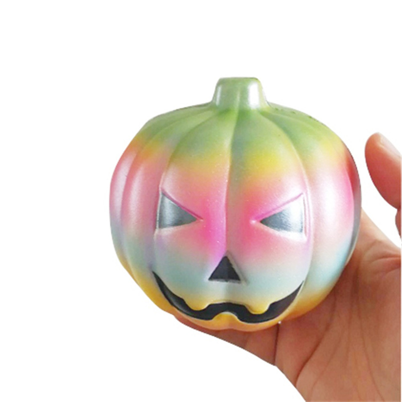 Hiinst stress relief toys Rainbow Pumpkin 2017 1pc Slow Rising Cream Scented Decompression Toys*R squishy squeeze toy Drop