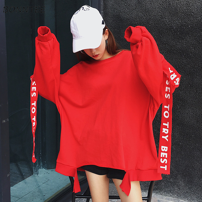 Hoodies Women Korean Style Streetwear Hip Hop Harajuku Loose Leisure Womens Clothing Trendy All-match Autumn New Daily Chic 2020