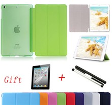 Hot sale For iPad 2 3 4 Smart Case Ultra Slim Original 1:1 Tablet Leather For Apple ipad Case Gift Screen film + capacitor pen