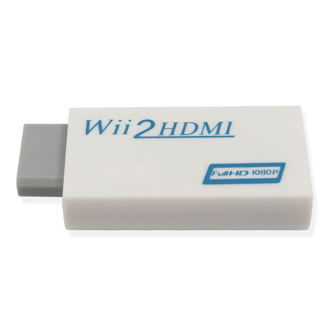 Wii to hdmi Converter Adapter, wii to hdmi1080p 720p Connector Output Video & 3.5mm Audio   Supports All for Wii Display Modes