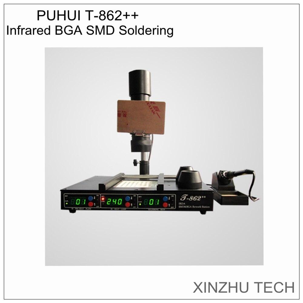 PUHUI T862 + + IR station de reprise IRDA soudeur infrarouge à souder BGA SMD Infrarouge Station de Reprise Livraison gratuite