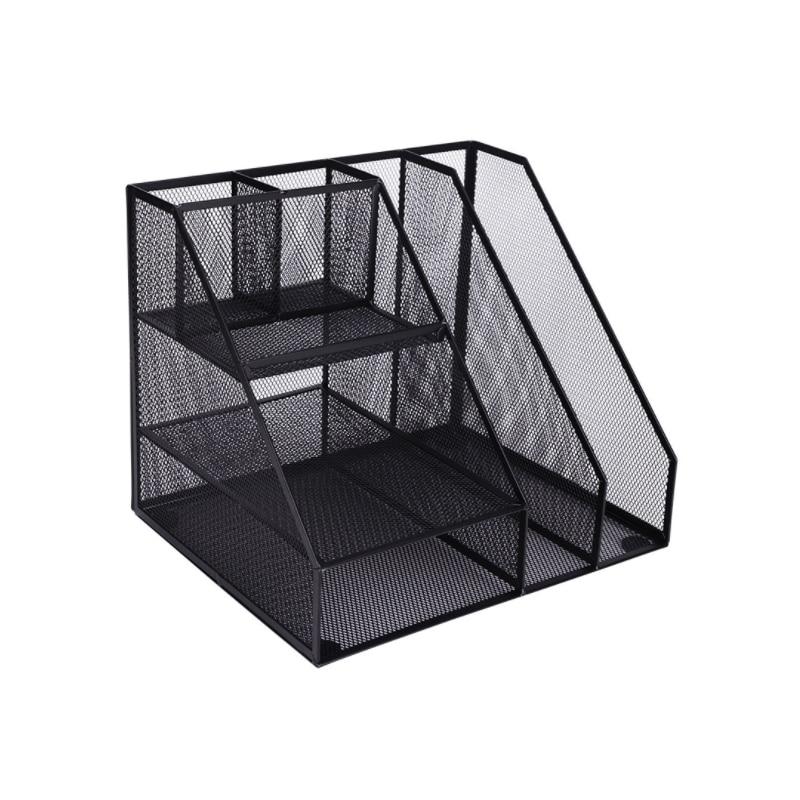 все цены на Home Office Desktop Office storage File Rack Organizer Sorter Black Metal Mesh