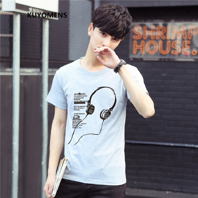 KUYOMENS Men's T-Shirts Plus Size S-5XL Tee Shirt Homme Summer Short Sleeve Men T Shirts Male TShirts Camiseta Tshirt Homme